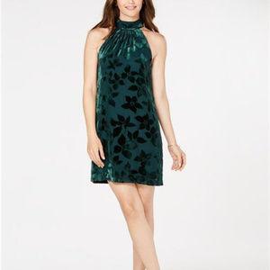 Trina Turk Womens Velvet Burnout Spree Dress Green
